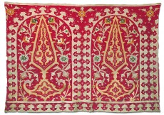 Applique Textile – Silk On Cotton Fragment