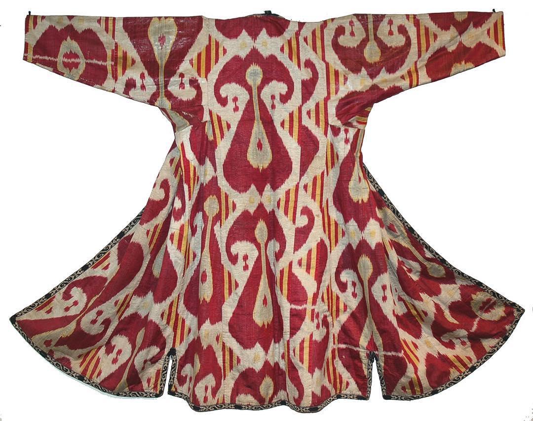 A 19th Century hand woven silk ikat...
