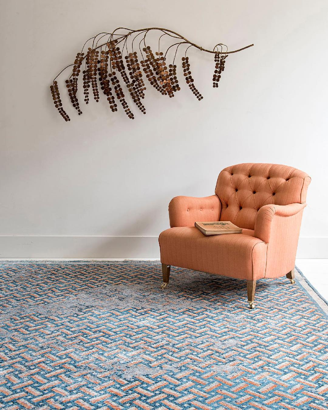 The Deverill rug from @lukeirwinrugs Mosaic Collection