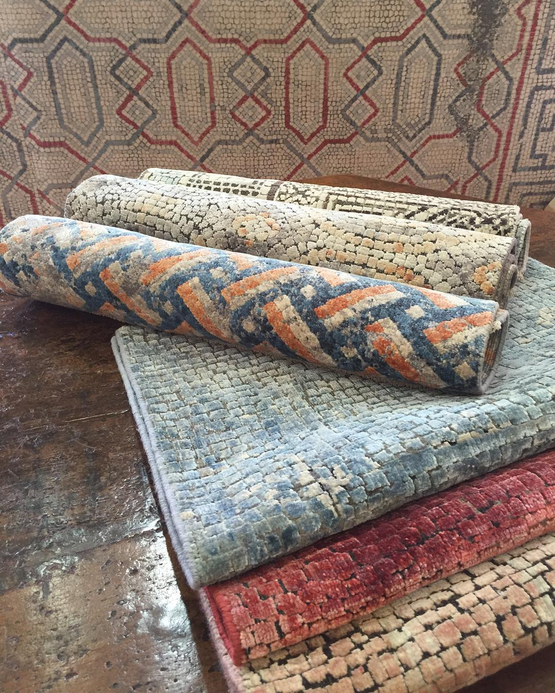 The complete sample collection of @lukeirwinrugs Mosaic...