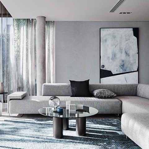 Regram from @duluxaus Our Wall design rug....