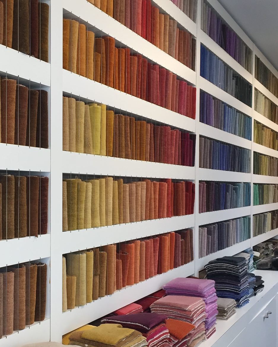 Our never ending colour sample wall for...